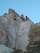 Rock Climbing Photo: Mike Holley cruising the double cracks up high. (A...