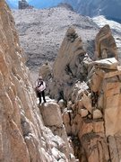 Rock Climbing Photo: Tower traverse, East Face of Mt Whitney, CA