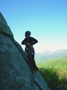 Rock Climbing Photo: Just starting the crux of the Nose, Looking Glass,...