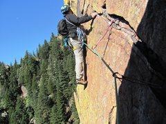 Rock Climbing Photo: P4 of Rewritten, Eldorado, CO