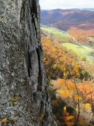 Rock Climbing Photo: Seneca Rock, WV. That was one beautiful fall day.