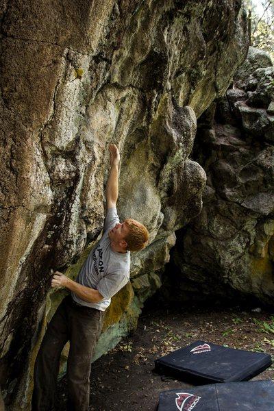 Rock Climbing Photo: Ethan climbing at the grotto