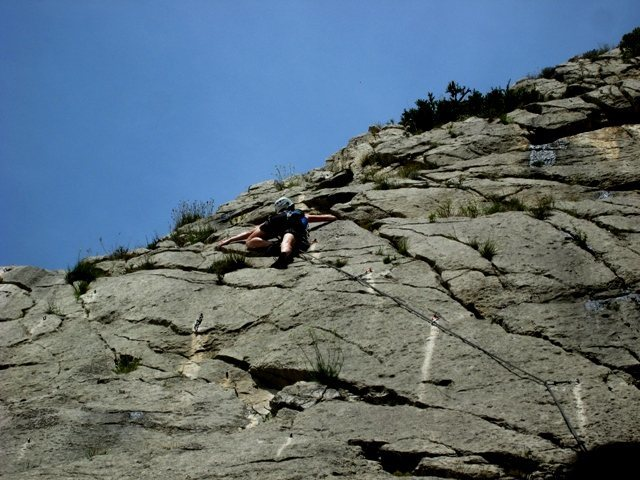 Rock Climbing Photo: High on Starsky at La Faille, Sisteron