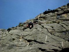 Rock Climbing Photo: High on Starsky at La Faille, Sisteron