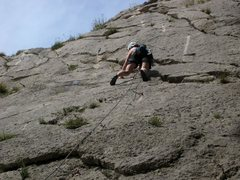 Rock Climbing Photo: Broken crack section above the flat face climbing ...