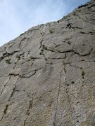 Rock Climbing Photo: At the anchor on Tétine Fétiche at Sisteron