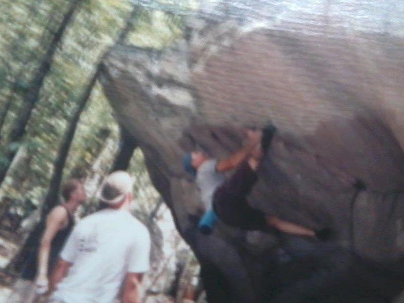 Brad Killough Aug. 2000, but this Boulder is off limits now.