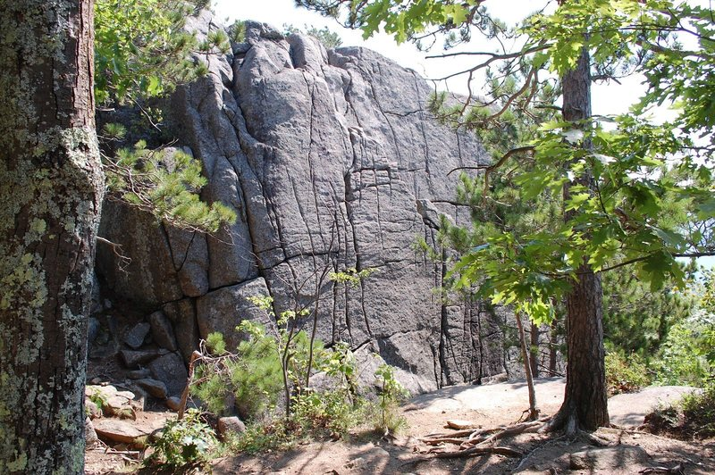 Rock Climbing Photo: View of the cliff before turning right down draina...