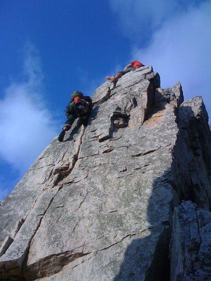 Rock Climbing Photo: Second to Jlam, Traffic Jam, 5.7, Seneca Rocks, We...