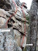 Rock Climbing Photo: Reading Braille on Left of Necrophelia