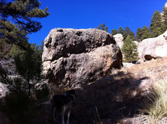 Rock Climbing Photo: Dingus Boulder, further downslope from both Fog th...