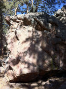 Rock Climbing Photo: Sister Boulder - Left Face - most fun is to follow...