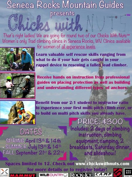 Spaces limited to 12! Email chickswithnuts@gmail.com with any questions or to register today