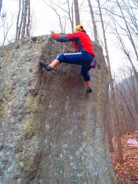 Rock Climbing Photo: He sent it!