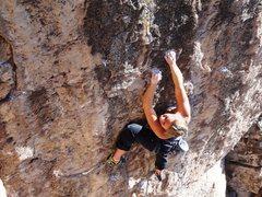 Rock Climbing Photo: Ashley on the send.