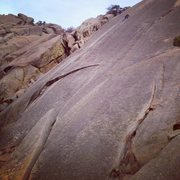 Rock Climbing Photo: Almost to the anchors on p1 of this sweet climb.