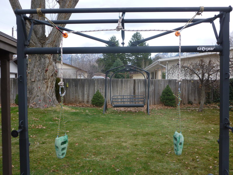 Rock rings set up for flagging exercises