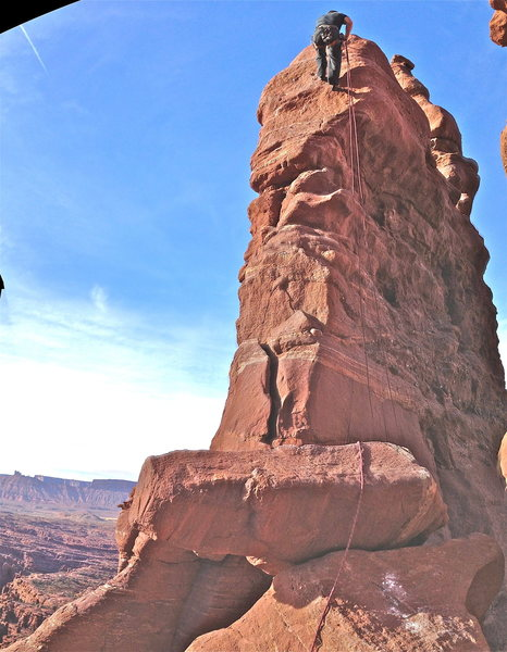 Rock Climbing Photo: We were able to rap to the base from top of second...