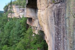 Rock Climbing Photo: Box Car Roof (on the far right of the crack house ...