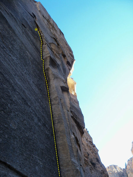 Rock Climbing Photo: A strenuous line!