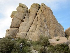 Rock Climbing Photo: Here is the cliff.  There is an old trad route tha...