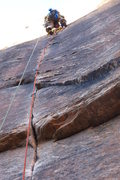 Rock Climbing Photo: Leading the sweet 6th pitch of Prodigal Sun