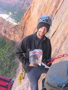 Rock Climbing Photo: Brian brushing up on how to big wall climb high on...