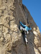 Rock Climbing Photo: Julie Messier on the first run before the FA.  Pho...