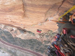 Rock Climbing Photo: Leading pitch 5 on Space Shot