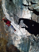 Rock Climbing Photo: Last hard move.