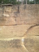 Rock Climbing Photo: Wide angle of Crescent Slab, two finishes up the c...