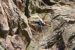 Rock Climbing Photo: P3 - the crux pitch