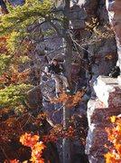 Rock Climbing Photo: Darin taking a break from filming the DLFA documen...