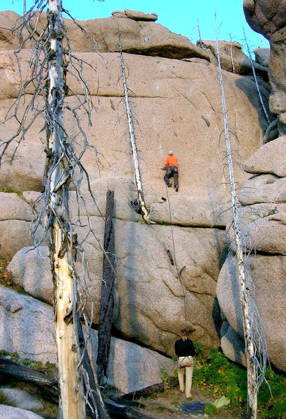 """Rock Climbing Photo: 1st ascent of """"Ladder Made of Thorns""""."""