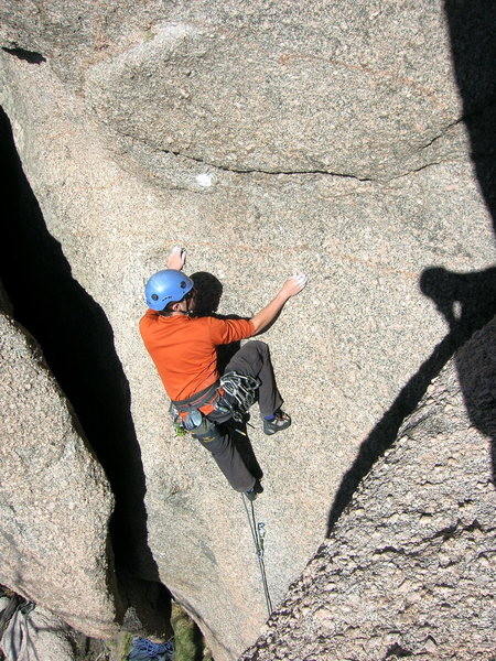 "Rock Climbing Photo: Jascha on ""Bouquet of Roses""."