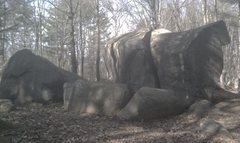 Rock Climbing Photo: The boulders from the trail.