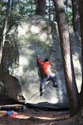 Rock Climbing Photo: Warming up in Pawtuckaway.