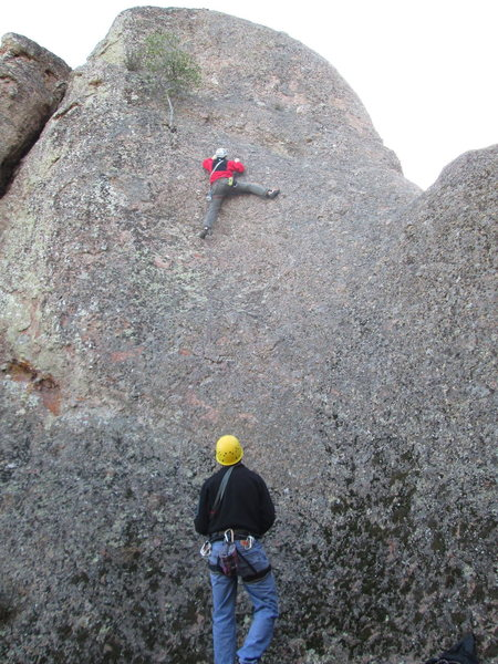 Rock Climbing Photo: Noal just after the first bolt
