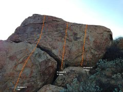 Rock Climbing Photo: Trail Side Boulder 5 - Right Topo