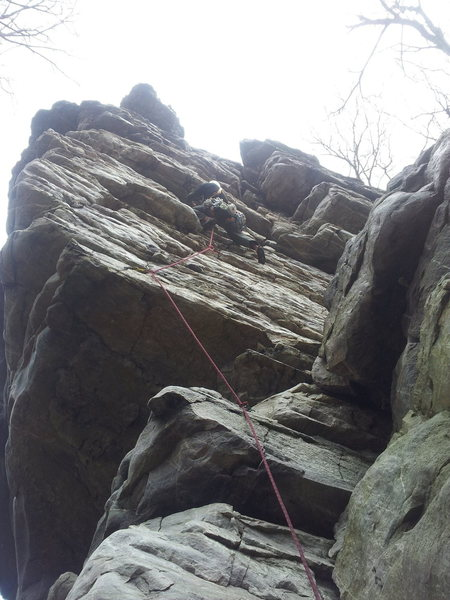 Rock Climbing Photo: On the 5.8 area of Wall of Wander