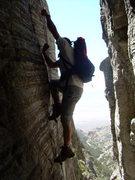 Rock Climbing Photo: Approaching the Book of Sat
