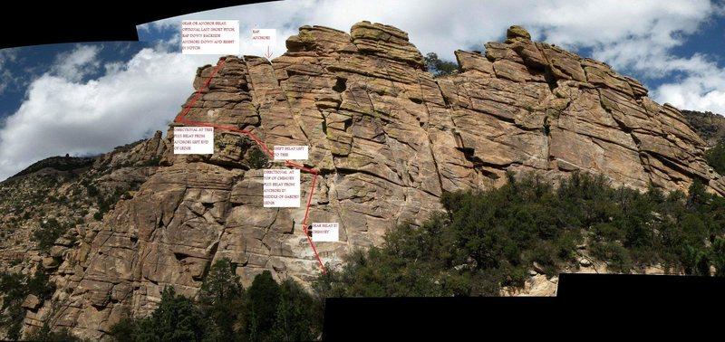 Rock Climbing Photo: Standard Route topo