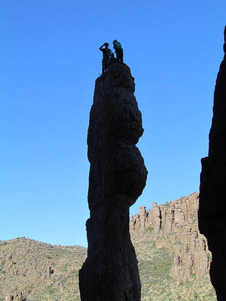 Rock Climbing Photo: The shot of Henry, Caitlin, Nathan, and I after fi...
