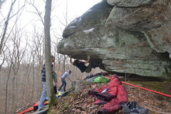 Rock Climbing Photo: The right arete is the PYZEL.