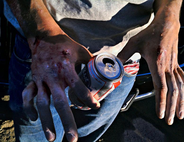 Rock Climbing Photo: zombie hands!
