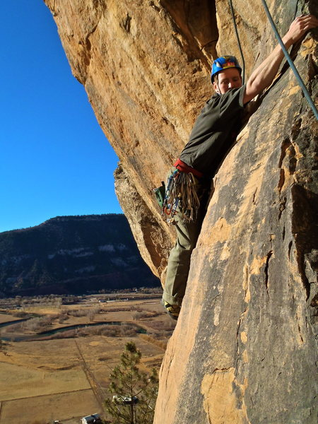 Rock Climbing Photo: The interesting traversing down climb that gives t...