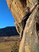 Rock Climbing Photo: The interesting traversing down climb that gives t...
