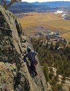"Rock Climbing Photo: Pitch 2, ""seldom done"" 40' runout on mod..."