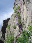 Rock Climbing Photo: Add Libs in pink line and Syanora in blue line.