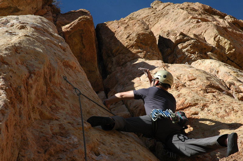 Rock Climbing Photo: Easy start.